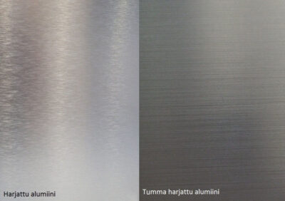Alumoccilevyt Harjattu tumma ja harjattu alumiini