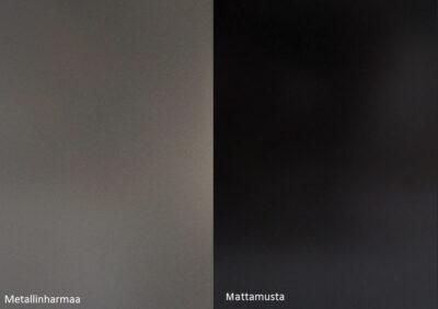 Alumoccilevyt Metallinharmaa ja mattamusta