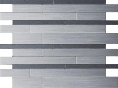 Iisi-laatta harjattu alumiini / tumma harjattu alumiini